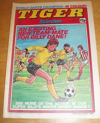 Tiger Comic 1980 With Stunning Preston North End  Colour Team  Centrefold Poster