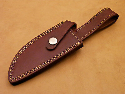"Custom-Handmade-Textured-9.50"" Leather-Sheath-For-Fixed-Blade-Knife- Mt-10"