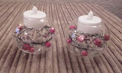 pr avon  holly tealight holders xmas new