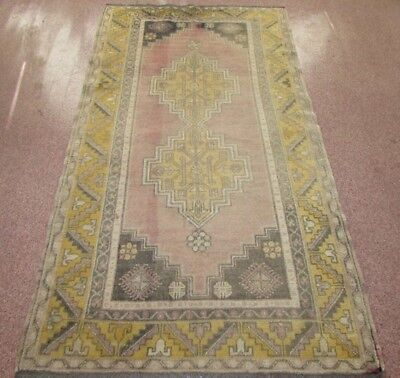 Vintage Persian Faded Rug 206 x 118cm