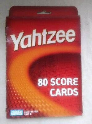 Yahtzee 80 Score Cards 8 to adult Parker Brothers New Sealed Box