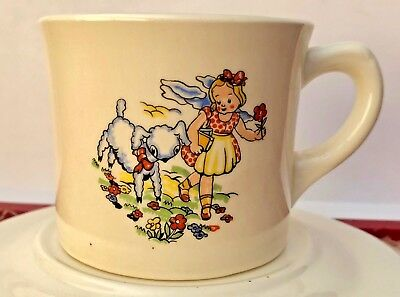 "Rare Vintage"" Mary Had A Little Lamb"" Cup & Saucer Very Good Condition"