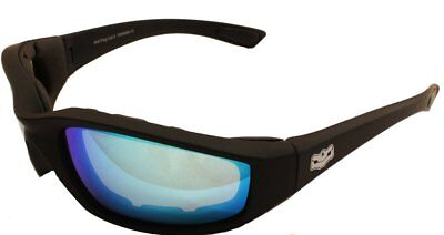 Motorcycle Goggle Padded Daytona G Tech Blue Sunglasses Biker glasses + pouch