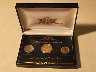 Indian Head coin collection in commemorative box