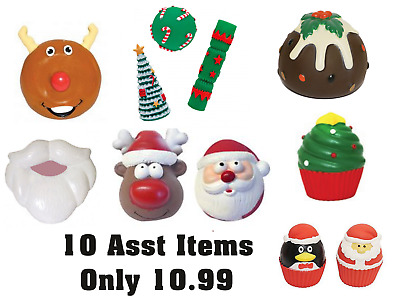 Rosewood Christmas Dog Toy Bundle - 10 x Latex & Vinyl Toys NQP