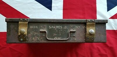 "WW2 British 2 Pdr & 3"" Howitzer Parts And Spares Box"