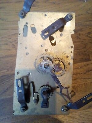 Vintage Mantel Clock Movement. Foreign Made. Possibly German.
