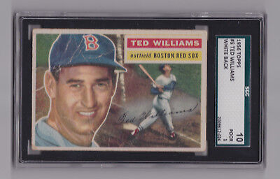 1956 Topps Ted Williams #5 SGC 10 Graded Boston Red Sox RARE Vintage MLB
