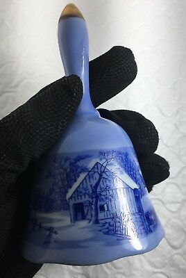 Japanese Price Imports Hand Painted Export Bell Blue And White Fine Porcelain
