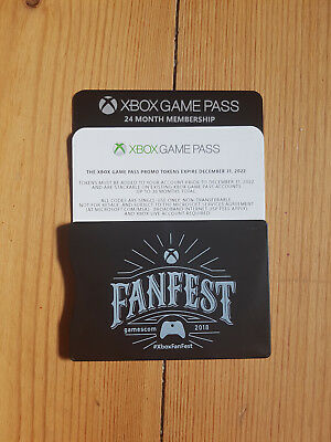 XBOX GAME PASS 24 Monate/ 2 Jahre Gamescom 2018 Xbox Fanfest