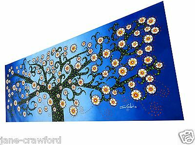 Painting Art original Canvas COA by Jane Crawford Australia tree Aboriginal