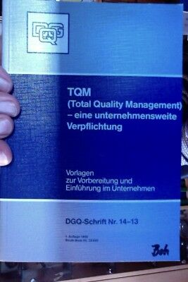 TQM Total Quality Management 14-13 DGQ Qualitätssicherung