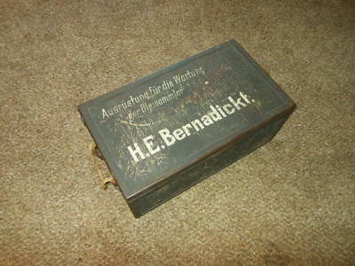 WW2 German Wehrmacht Luftwaffe Parts and Equipment Storage Crate - VERY NICE!