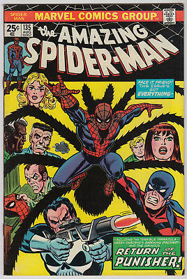 AMAZING SPIDER-MAN #135 F/VF (7.0) Cents 2nd App The Punisher