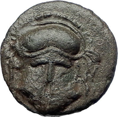 Mesembria  400BC QUALITY Ancient  Greek Coin Crested Helmet & Wheel  i73186