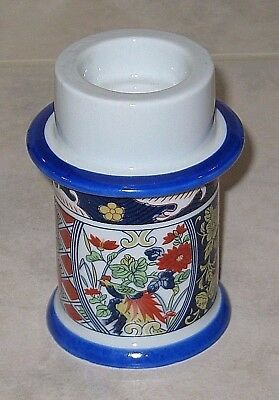 Fabulous Japanese Blue Imari Candle Holder for 3 Sizes of Candles-Mint Condition