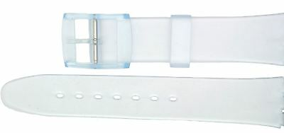 New 17mm (20mm) Resin Strap Compatible for Swatch Watch - Clear - RG14T