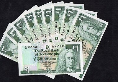 1 Pound From Scotland 1999 10 Pcs Unc