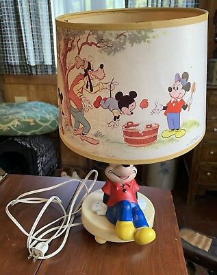 Vintage 1981 DISNEY MICKEY MOUSE Desk Lamp with Night Light Made in USA