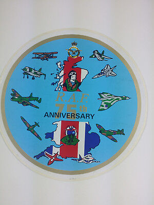 RAF 75th Anniversary Flight Decal / Sticker Spitfire Lancaster