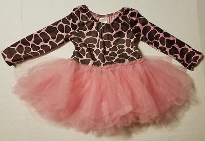Gymboree Pink Brown Tulle Tutu Giraffe Costume Dance Outfit Girls 18-24 Months