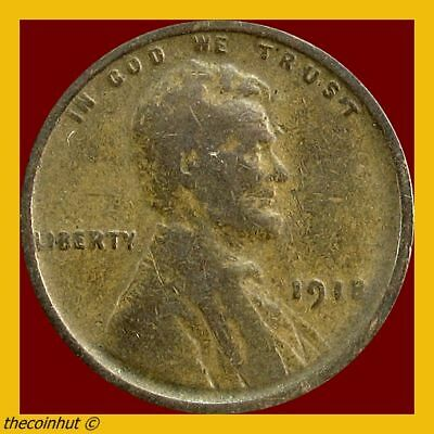 Wheat Penny 1918 P Lincoln Cent US Coins Coinhut2988