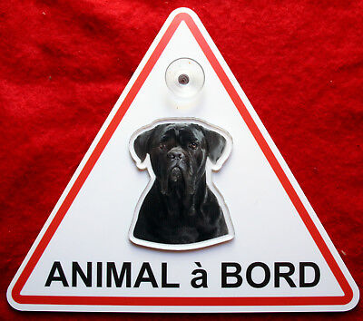 plaque animal à bord à ventouse chien cane corso 10 dog hund perro cane