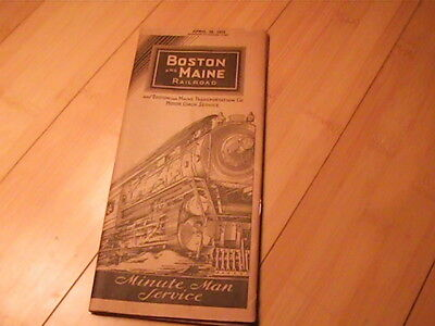 1933 Boston & Maine Railroad Timetable Map Of Routes