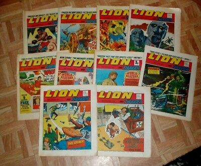 Lion  Comic  10 Great Issues From  1971 / 72 / 73 Generally Very Good +/-