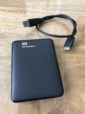 WD Western Digital Elements USB 3.0 Externe Festplatte 1 TB  Schwarz HDD SMART