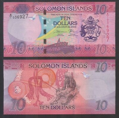 SOLOMON ISLANDS: P#New 10 Solomon Island Dollar Banknote.