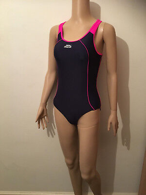 New Ladies Swim Suit Size 8 Slazenger Racer Back Swimming Costume