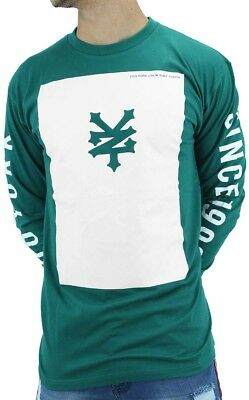 Zoo York, Men's Designer Tee Shirt, Green Long Sleeve, Sweatshirt, Money Time Is