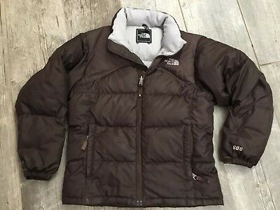 Kids North Face Girl's 600 Jacket Puffer Coat Size Medium Brown Down Filled