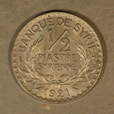 1921 Syria 1/2 Piastre Higher Grade Coin            ** FREE U.S. SHIPPING **