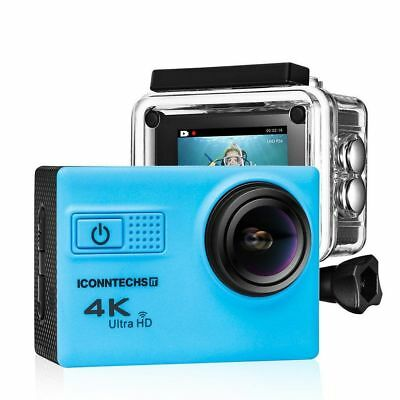 Iconntechs IT Action Camera 4k Waterproof Sports -Scuba Diving w/ WiFi