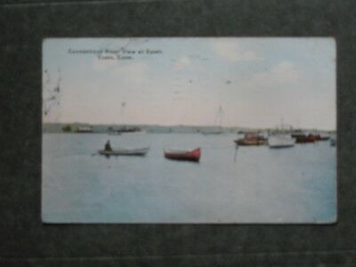 Post Card  J85818  Essex, CT  View of the Connecticut River  c-1914