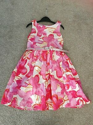 Gorgeous next Girls Pink Party Dress 6 Years