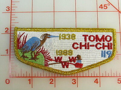 OA Lodge 119 TOMO CHI CHI S20 gmy border collectible 1938 - 1988 patch (oA)