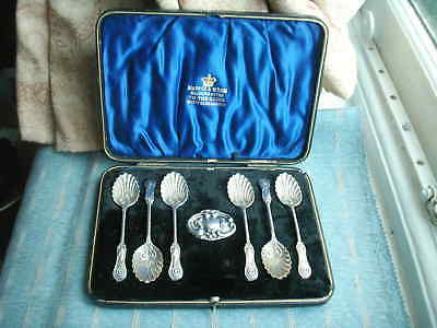 Old Antique Sterling Silver Hallmarked Mappin and Webb Teaspoons Boxed 1902 six