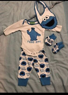 Cookie monster Baby Outfit