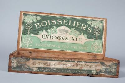 "c1910 - ""Boisselier's - Chocolate"" ~ Shop Delivery / Display Box"