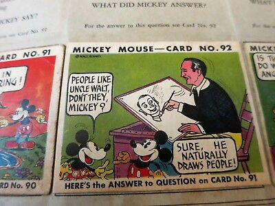 1930S Mickey Mouse Picture Card Album W Rare Walt Disney Card Vol2