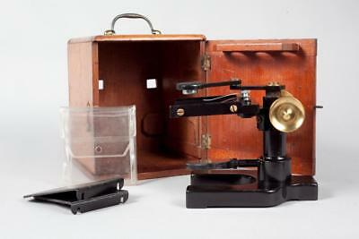 "Vintage c1910 ~ ""W. Watson & Sons"" Disecting Brass Lacquered Microscope & Case"