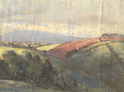 Bernard H. Wiles (1883-1966) - Signed Early 20th Century Oil, Moorland Landscape