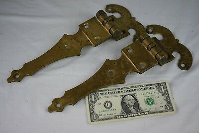Large Vintage Solid Brass Heavy Duty Door Hinges Old Industrial Hardware