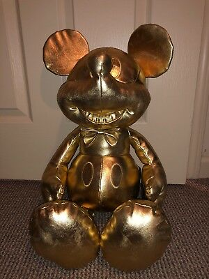 Disney Mickey Mouse 90th Memories Years Of Magic Gold Collection Plush LARGE