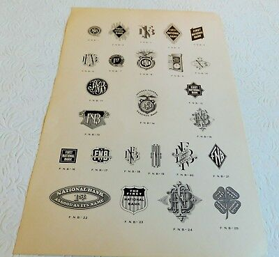Rare! Lithographer's Banking Letterhead & Logo Design Fonts