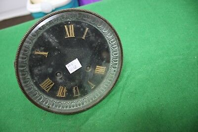 Old clock movement dial and bezel for spares repairs