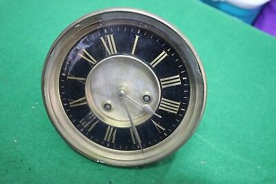 Old french clock movement dail and bezel for spares repairs